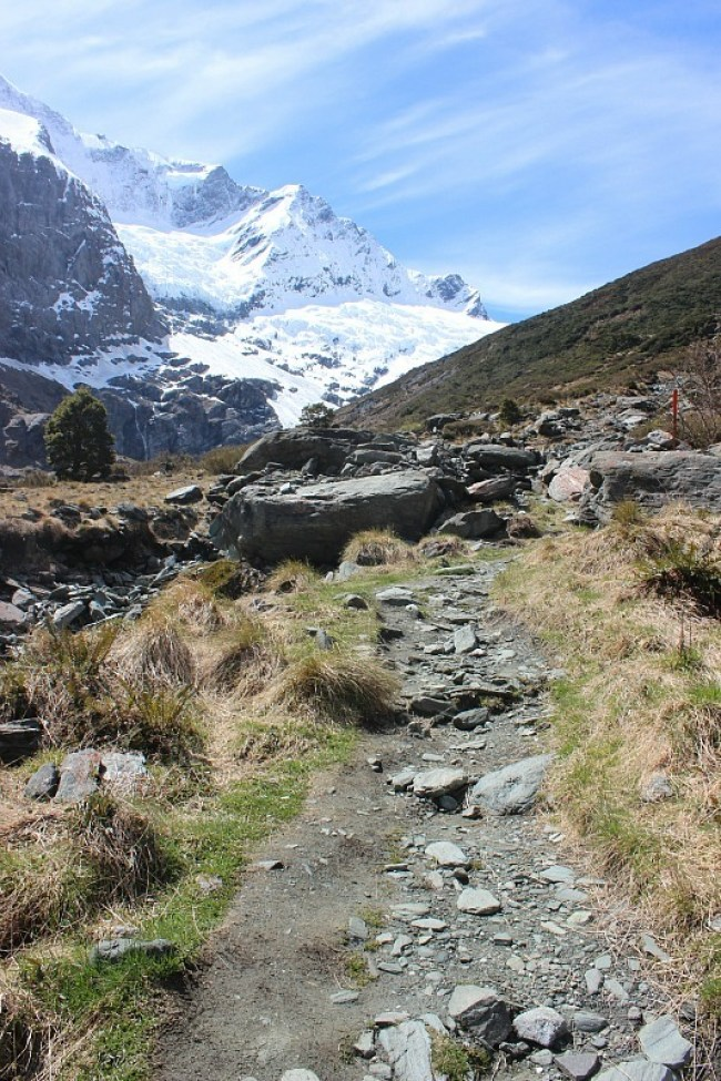 Hiking in Mt Aspiring National Park during month five of digital nomad life