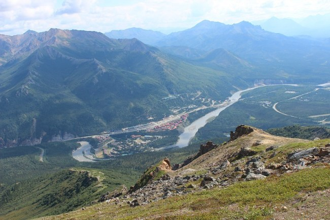 Nenana Valley and river from the Mt Healy Overlook Trail in Denali National Park