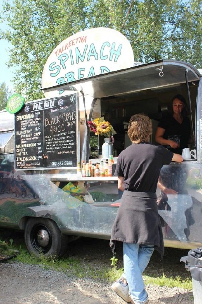 Talkeetna Spinach Bread food truck in Talkeetna Alaska