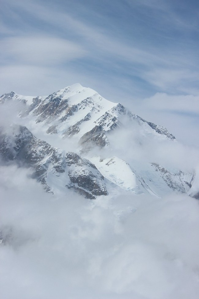 The summit of Denali from a Denali Flightseeing Tour