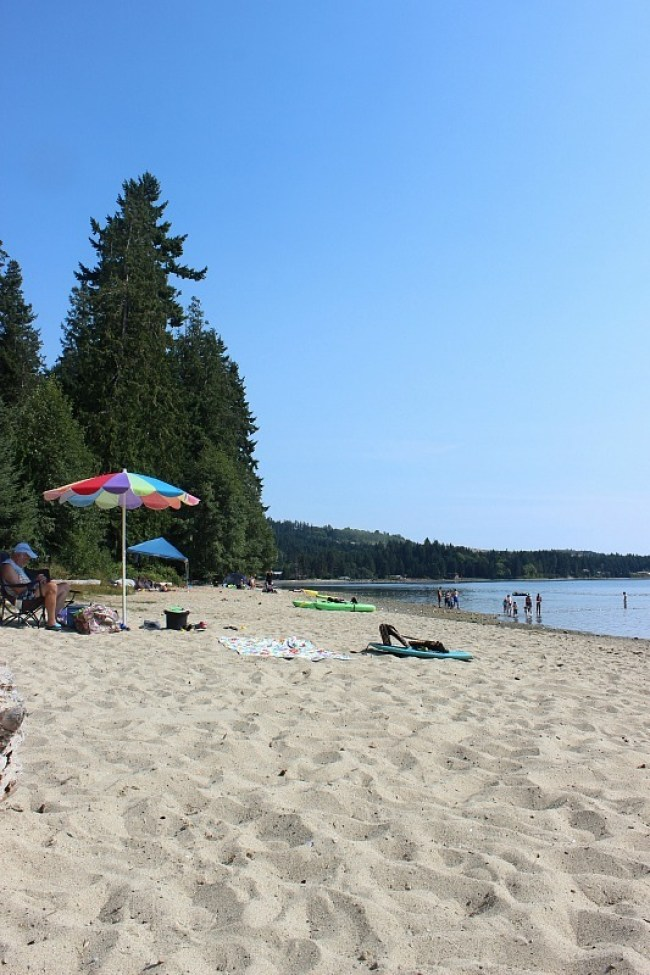 Beach at Porpoise Bay on the Sunshine Coast BC