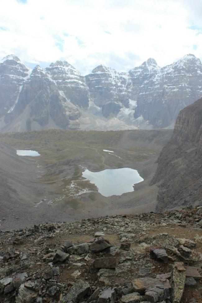View from Sentinel Pass - one of the best fall hikes in Banff National Park