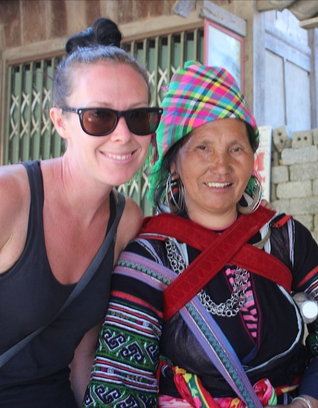 Mama Zu and I, my Sapa homestay host during month seven of Digital Nomad Life