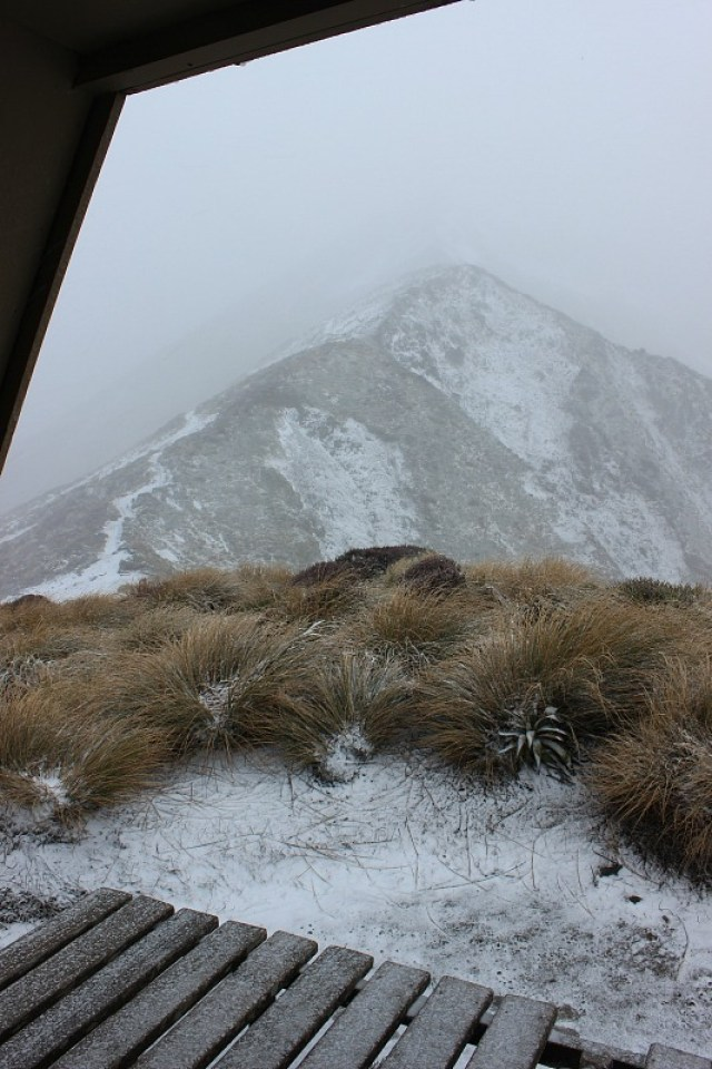 Snow on day two of the Kepler Track