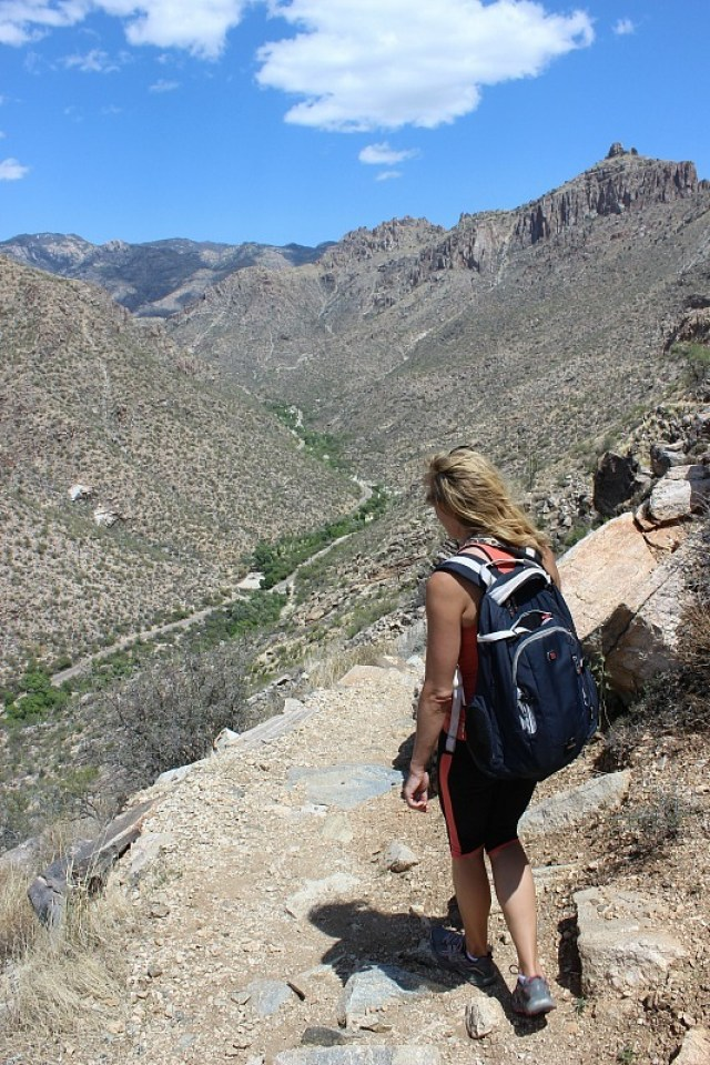 Hiking Sabino Canyon near Tucson during month 10 of digital nomad life