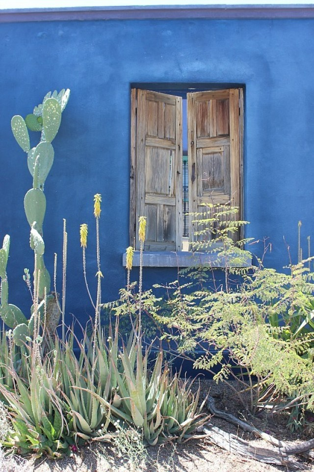 Photographing colorful Tucson houses during month 10 pf digital nomad life