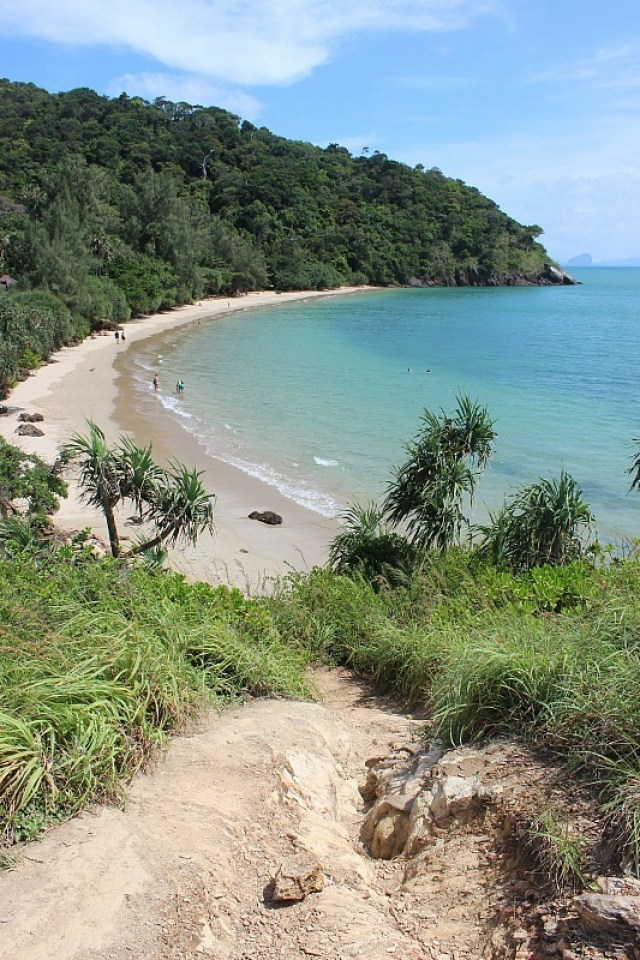View over beach from Lighthouse on Koh Lanta