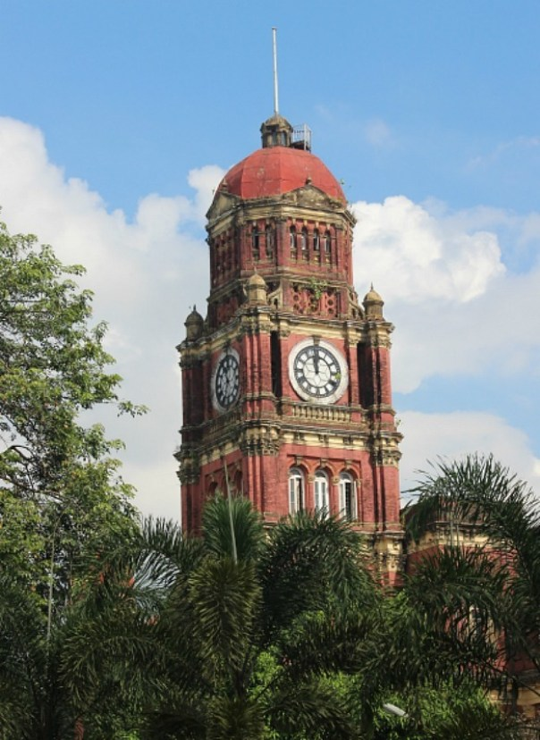 Historic building in Yangon, Myanmar
