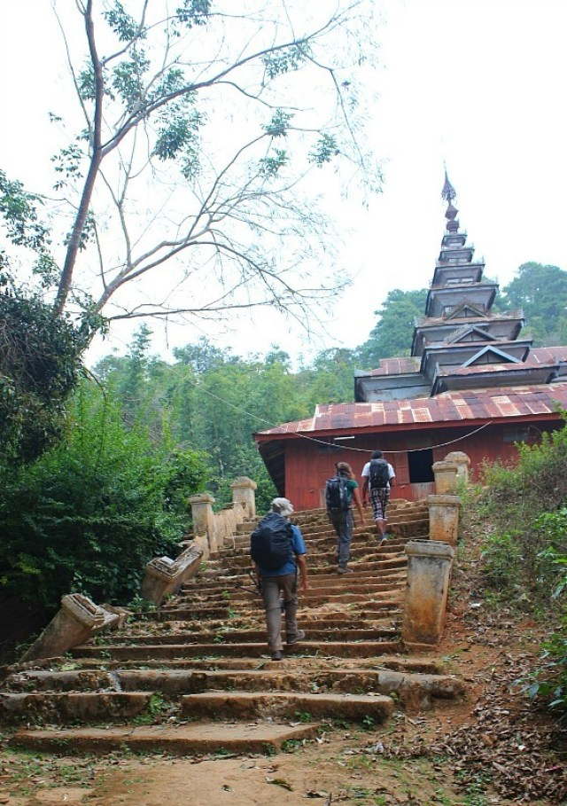 Monastery we stayed in - Trekking Kalaw to Inle Lake