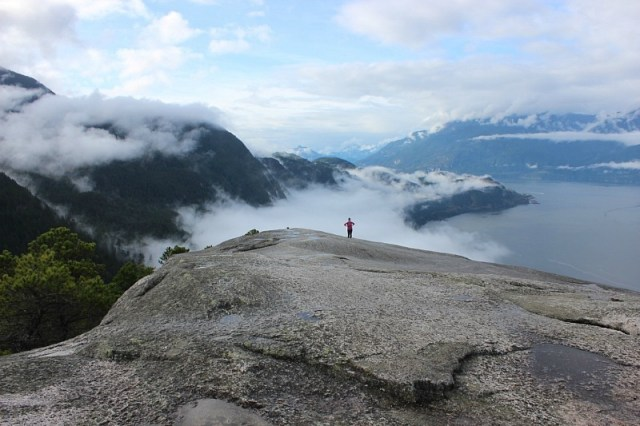 view-from-peak-one-of-the-chief-hike-in-squamish during month 16 of digital nomad life