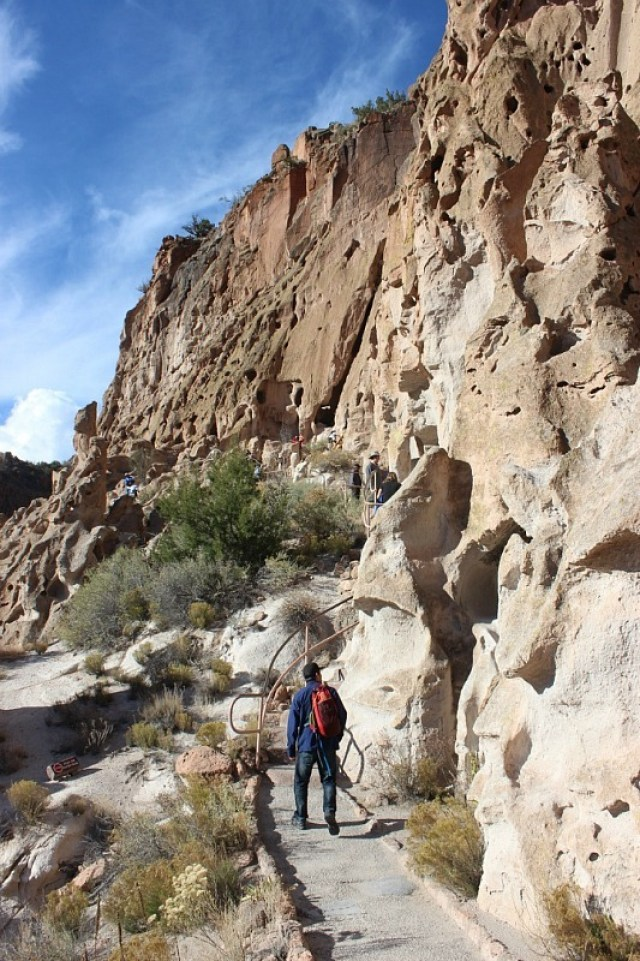 Hiking Bandelier National Monument during month 17 of digital nomad life