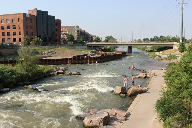 Swimming at Confluence Park in Denver - How to spend 3 days in Denver during summer