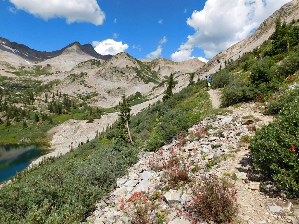 Hiking over East Maroon Pass in Maroon Bells Colorado during month twenty six of Digital Nomad Life