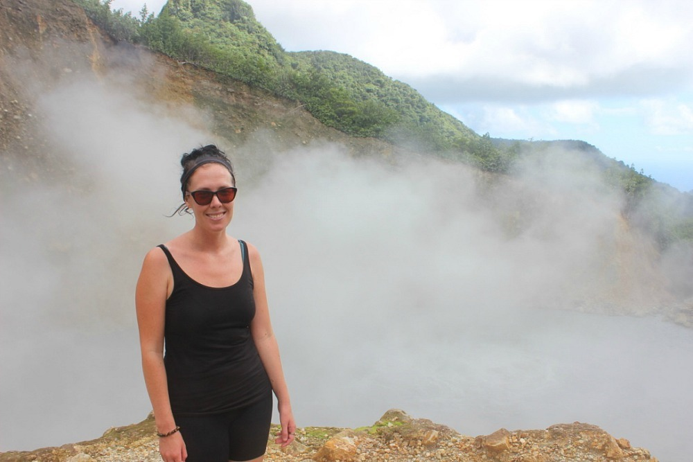 The Boiling Lake in Dominica