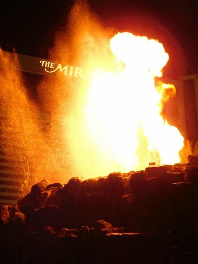 Volcano erupting at the Mirage Las Vegas