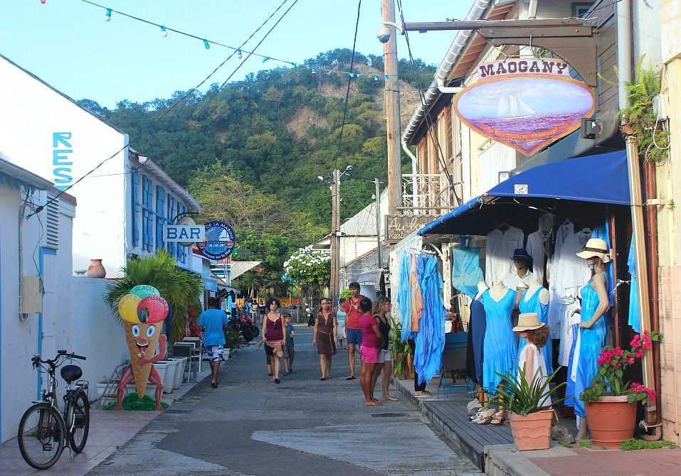 Le Bourg town centre on Les Saintes: The French Caribbean Islands that time forgot