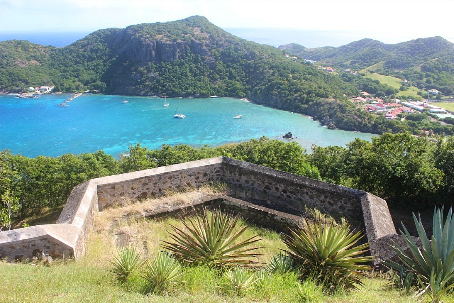 Views from Fort Napoleon on Les Saintes: The French Caribbean Islands that time forgot