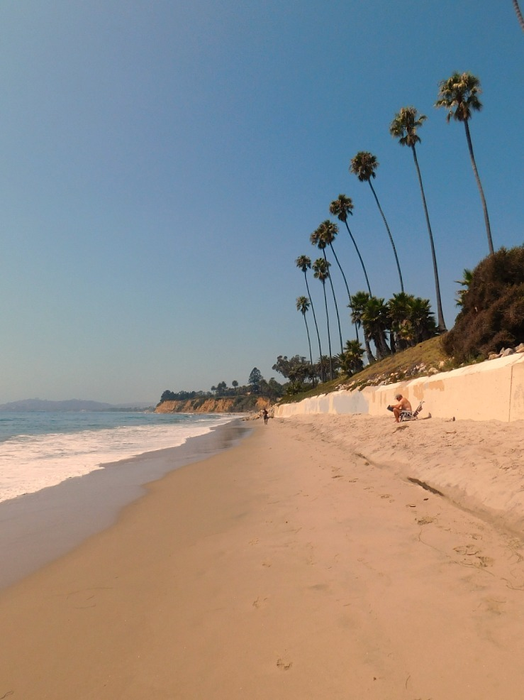 Butterfly beach in Montecito Santa Barbara during month 27 of digital nomad life
