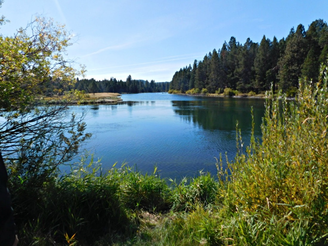 Biking by the Deshutes River in Sun River, Oregon during Month Twenty Eight of Digital Nomad Life