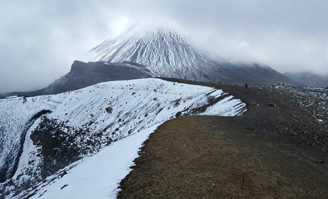Hiking up to Red Crater on the Tongariro Northern Circuit