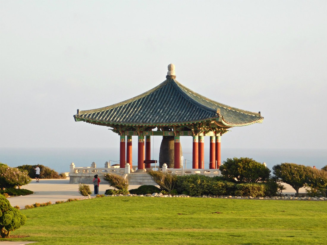 The Korean Bell of Friendship in San Pedro, the South Bay of Los Angeles