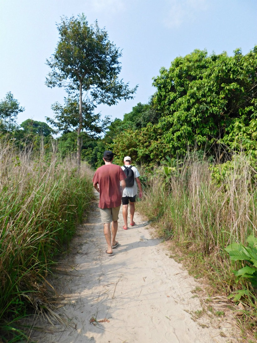 Hiking trail on Koh Rong Sanloem in Cambodia
