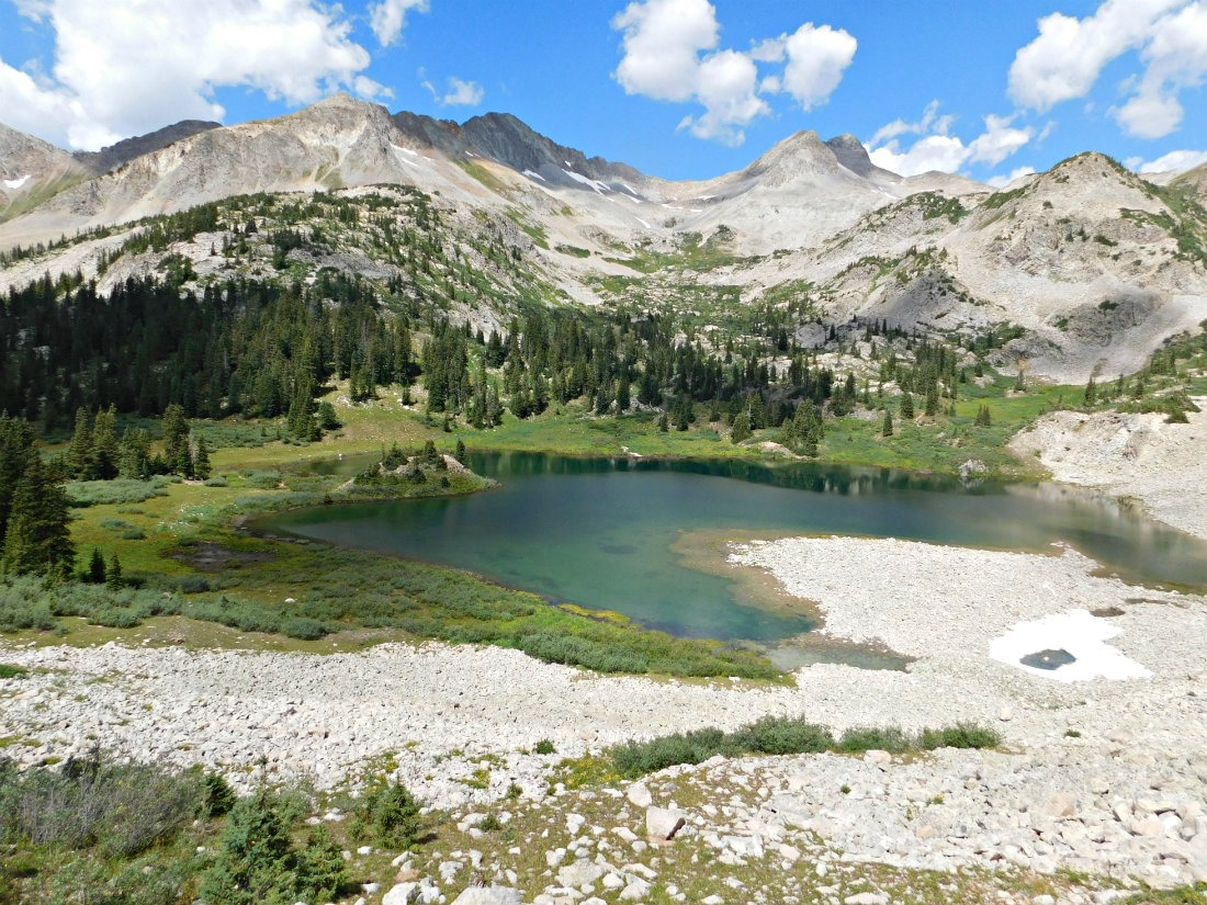 Copper Lake on the East Maroon Pass trail from Crested Butte to Aspen