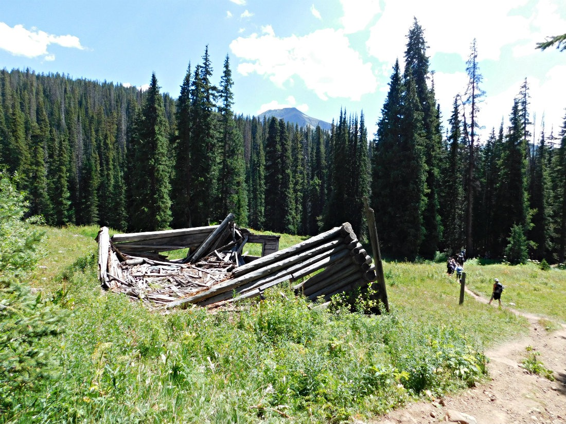 Ruined Cabin near the end of the hike from Aspen to Crested Butte in Colorado