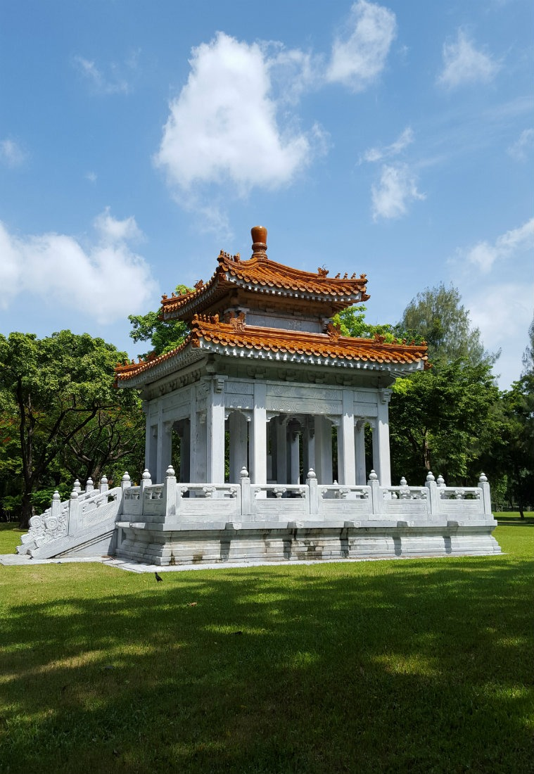 Beautiful temple in Lumpini Park in Bangkok - a highlight of month thirty six of digital nomad life