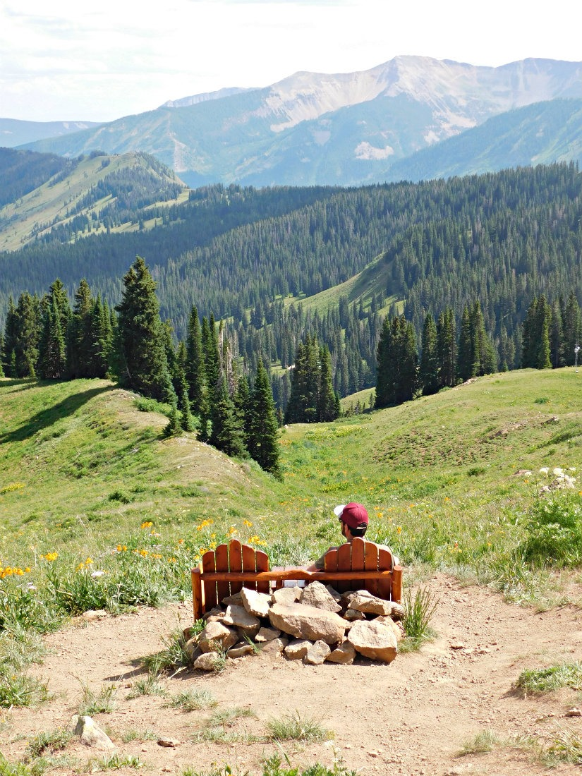 Hiking in wildflower meadows near Crested Butte, Colorado