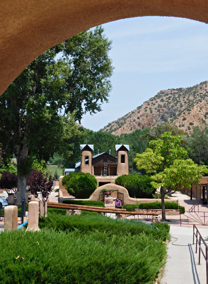 Visiting the Santuario de Chimayo in New Mexico during Month Thirty Eight of Digital Nomad Life