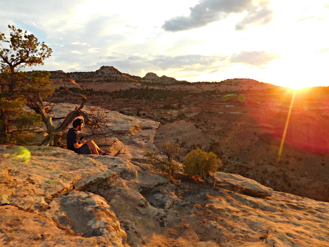 Watching the sunset at Colorado National Monument