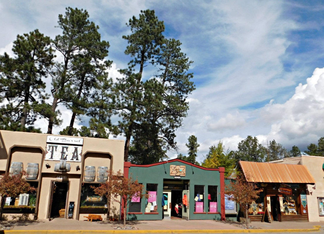 Main Street in the mountain town of Ruidoso, New Mexico