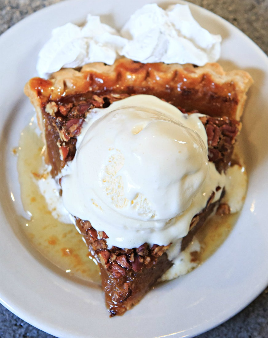 Pecan pie at Mulate's Cajun Restaurant is a Louisiana food highlight