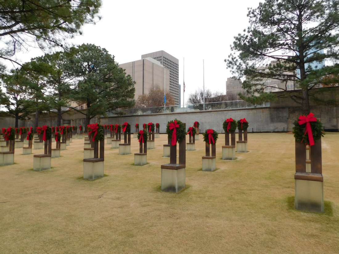 Paying my respects at the Oklahoma Bombing Memorial during month forty two of Digital Nomad Life