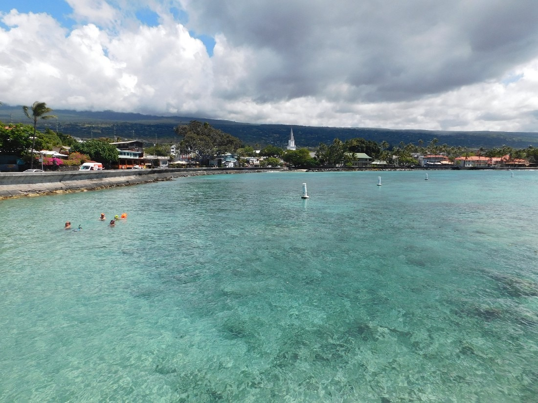 Kailua Bay on the Big Island of Hawaii
