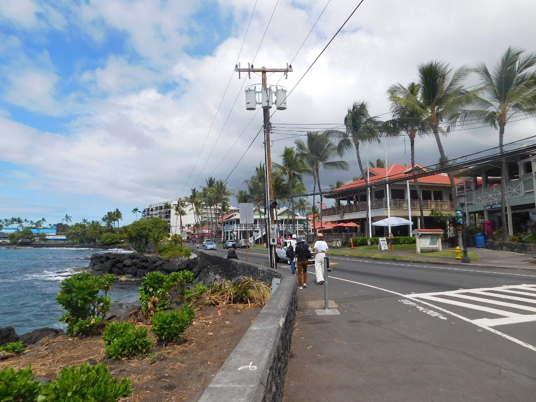 Kailua-Kona town - a highlight of one week in Hawaii