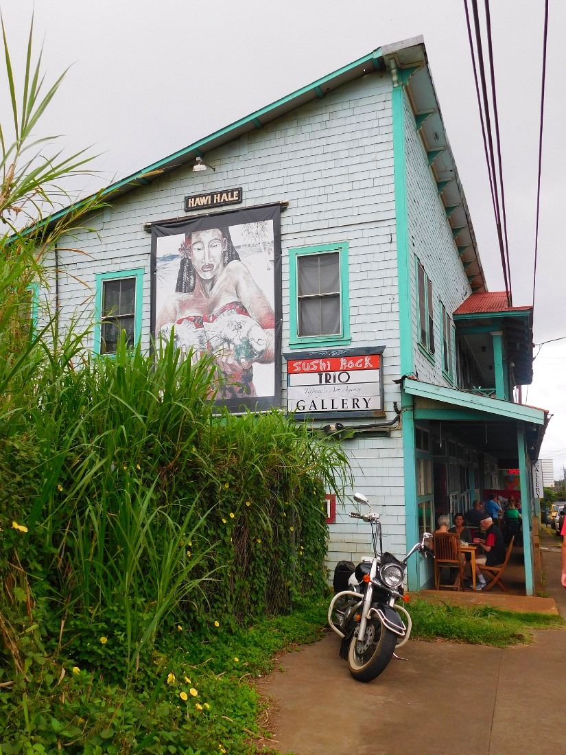 Downtown Hawi on the Big Island of Hawaii