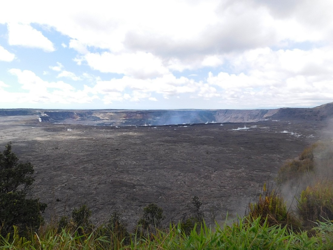 Kilauea Caldera in Hawaii Volcanoes National Park