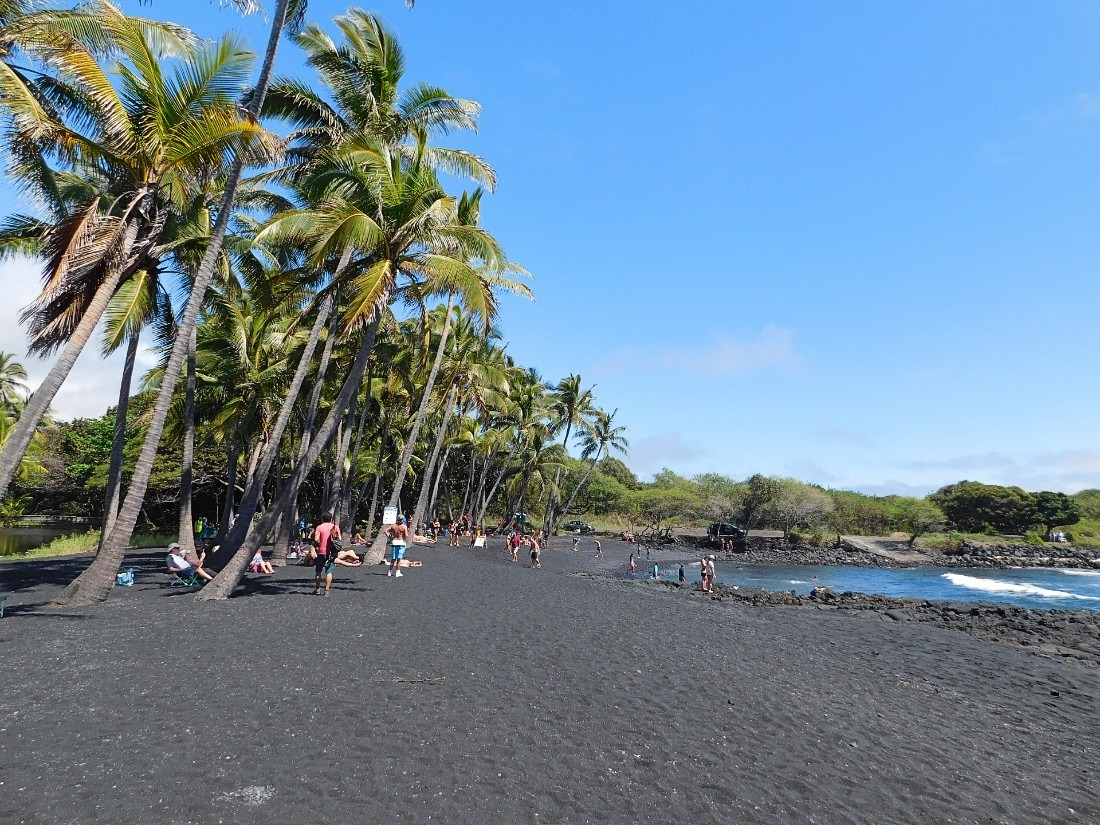Punalu'u Beach in Hawaii is a great place to add to your Big Island 7 Day Itinerary