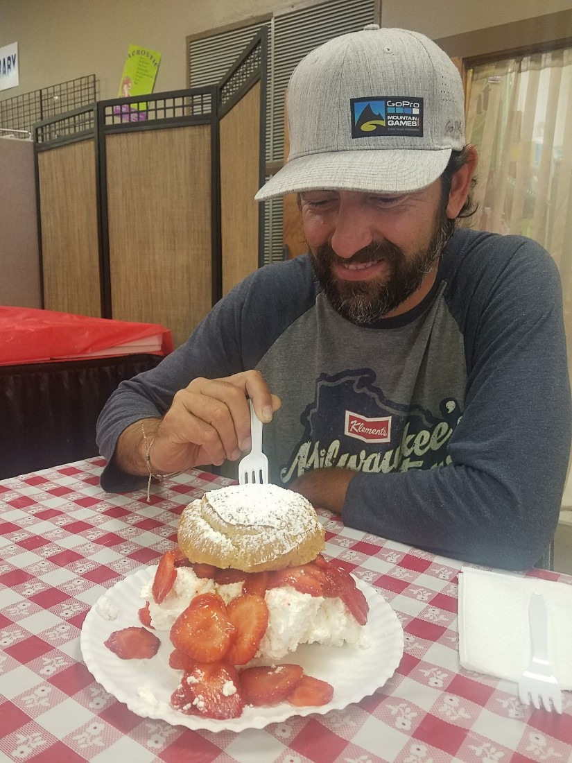 Giant cream puff from the Tristate Fair in South Dakota