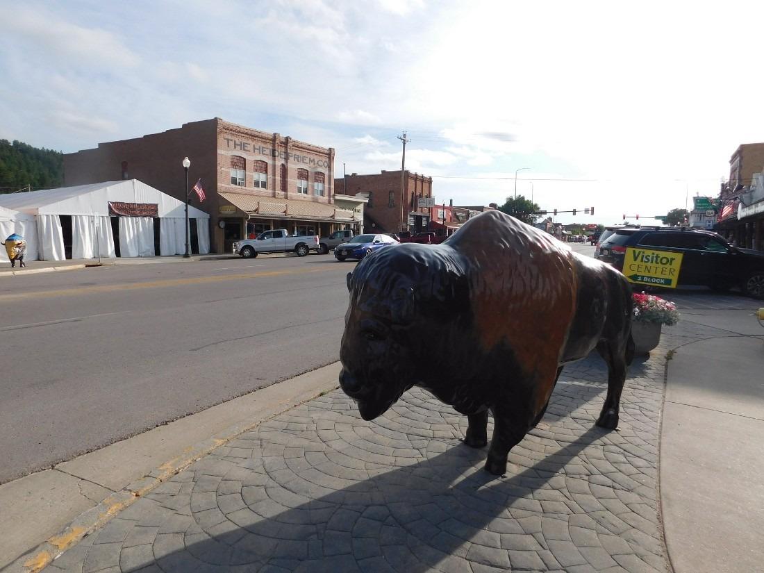 Buffalo statue in Custer, South Dakota