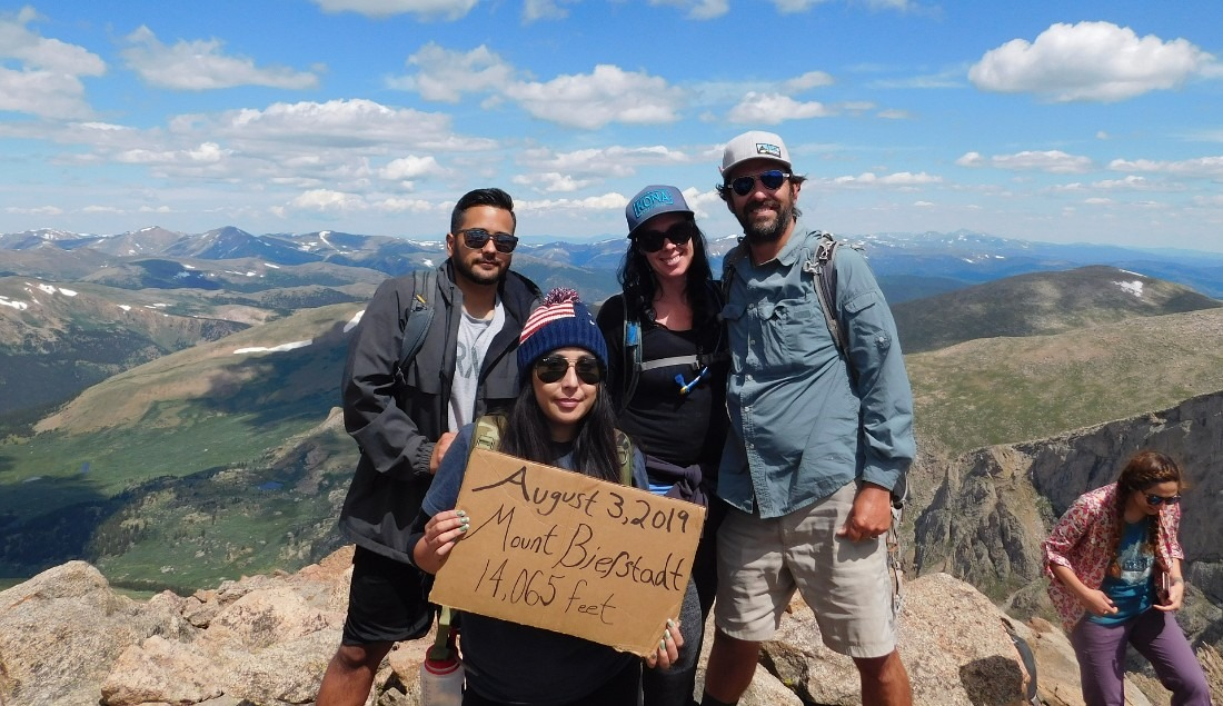 Summit of Mount Bierstadt in Colorado