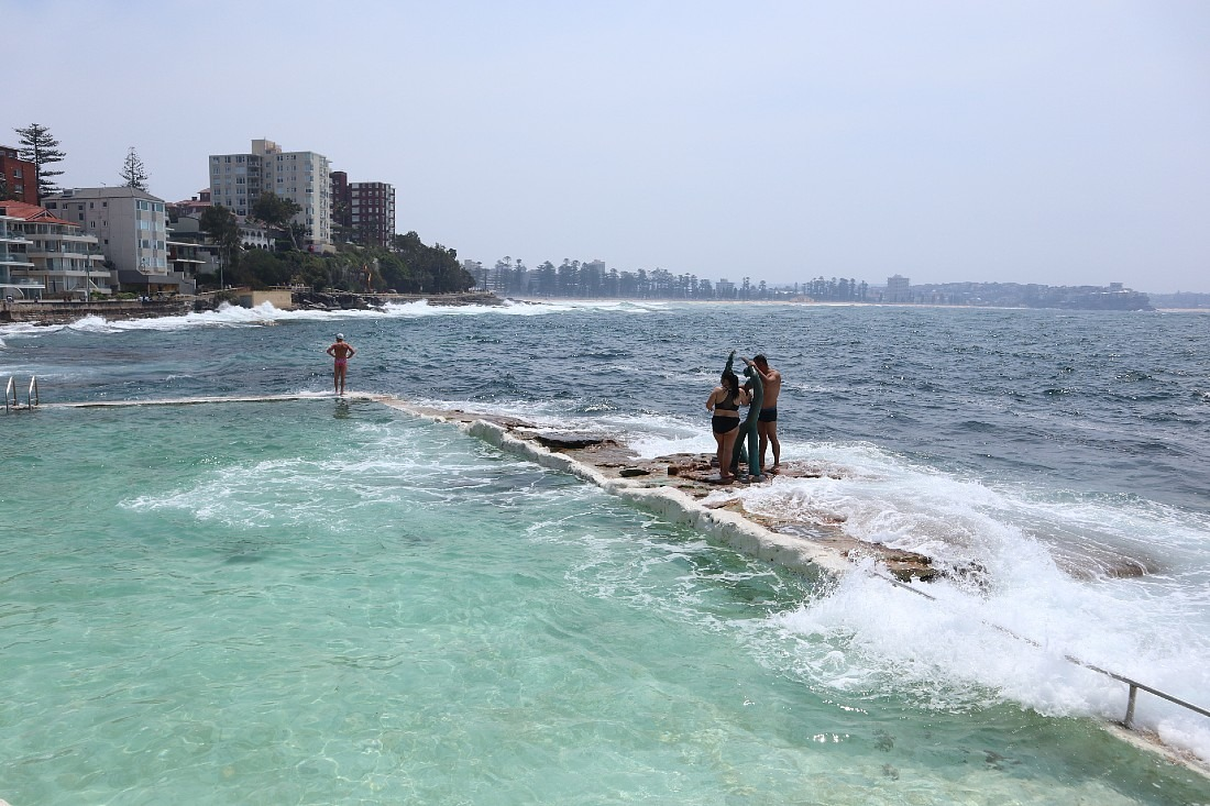 Manly sea pool in Sydney
