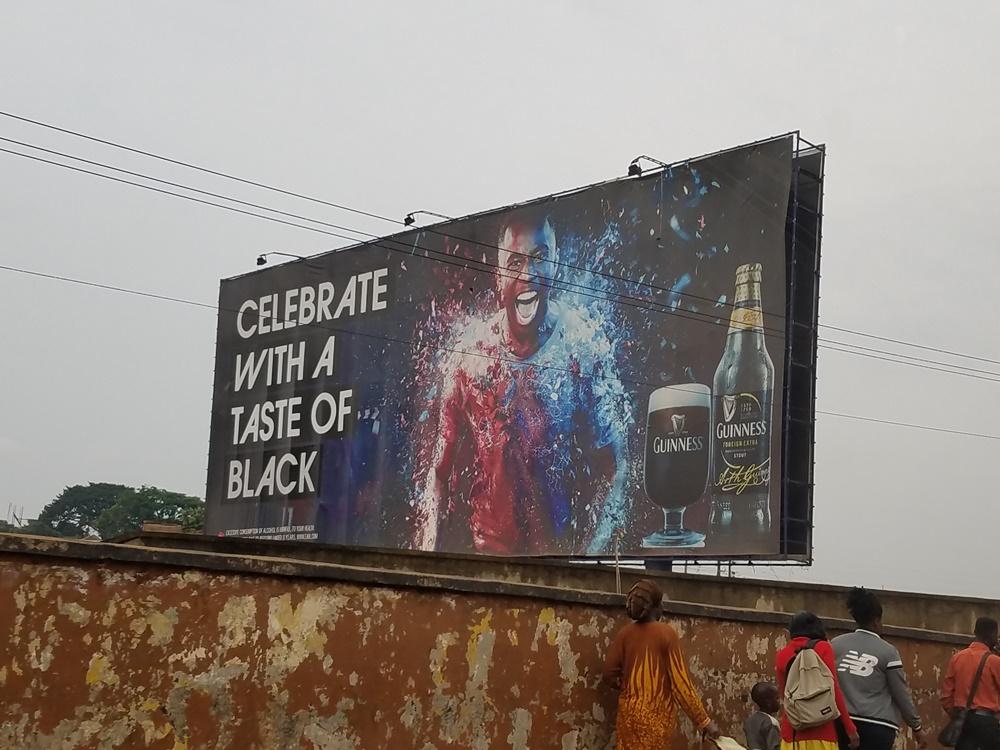 Kampala Uganda Billboard Guinness Beer