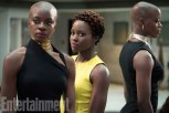 Marvel Studios' BLACK PANTHER L to R: Okoye (Danai Gurira), Nakia (Lupita Nyong'o) and Ayo (Florence Kasumba) Credit: Matt Kennedy/©Marvel Studios 2018