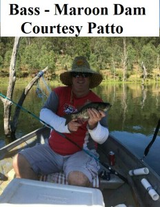 Bass - Maroon Dam - Courtesy Patto - Fish Caught Using My Bait Worms