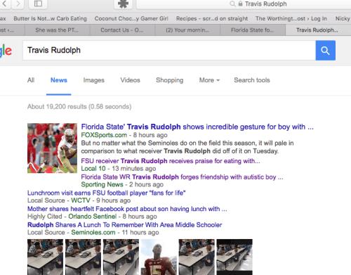 Travis Rudolph Google Search