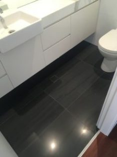 polished basalt floor