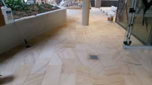 clean and seal sandstone floor